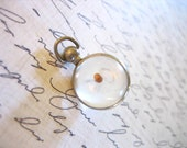Vintage Silver  MUSTARD SEED Bubble Pendant Fob