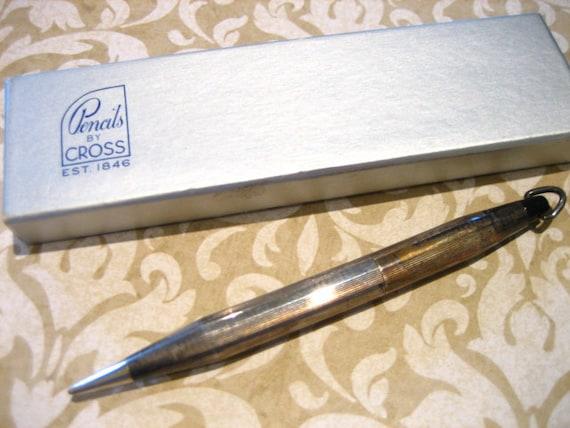 Vintage Sterling Silver Cross Mechanical Pencil Pendant