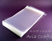 100 4-5/8 x 5-3/4 Clear Resealable Bags for A2 size card w/envelope