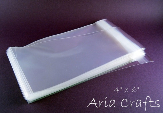 50 4 x 6 Clear Resealable Cello Bags