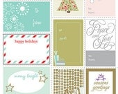 SALE Christmas Holiday Gift Tags - Set of 10 - Printable Gift Tags