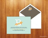 Printable Personalized Baby Shower Invitation - Gender Reveal Party - B is for Baby