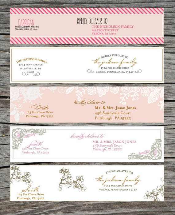 Wrap Around Address Labels Printable Diy For Showers Avery Wraparound