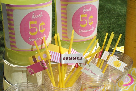 Pink Lemonade Party - Printable Party Decor - Stickers, Banners, Labels and more INSTANT DOWNLOAD