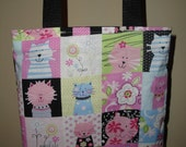 Pretty Kitty pink tote bag- small