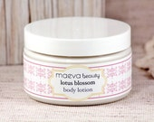 Lotus Blossom Body Lotion - With Organic Aloe, Sweet Almond Oil & Shea Butter - Paraben Free
