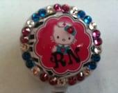 Hello Kitty RN Nurse Badge Holder