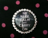 Keep Calm and Carry On Badge Holder Great for Nurses and Co Workers