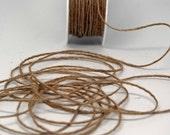 Jute Cord Roping Trim -- 1/16 inch --  Natural Brown -- Rustic Vintage Burlap