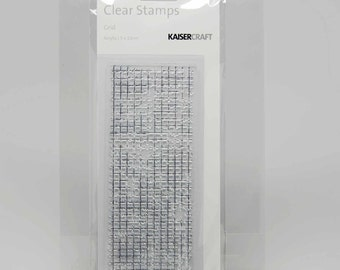 KaiserCraft Background Clear Stamps -- Acrylic -- Grid Distressed Shabby Chic