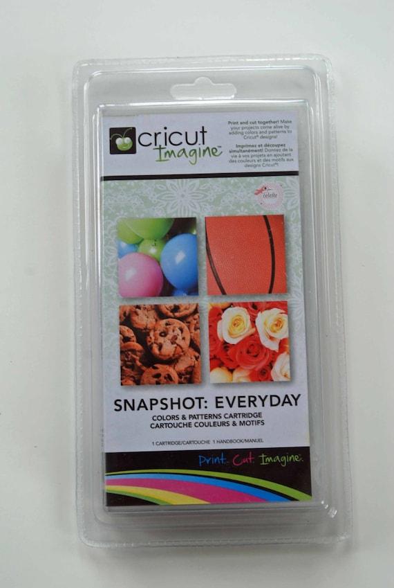 SALE Cricut Imagine Cartridge -- Snapshot Everyday -- Colors Patterns Candy Flowers Sports