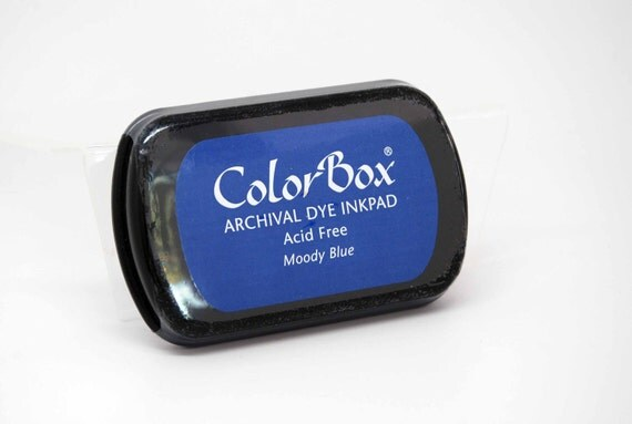 SALE ColorBox Archival Dye Stamp Pad -- Moody Blue