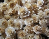 50 Pcs Birch Wood Shavings Crafted Flowers by YanniCreations on ETsy