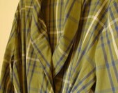 Vintage Mens Plaid Cotton Robe, 1950s, by Luxury Robe