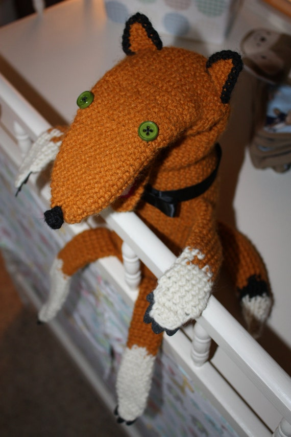 The Fabulous Mr. Fox Crochet Hand Puppet