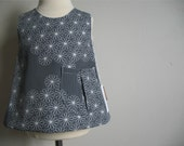 Mod Daisy Sweet pocket pinafore 6m 12m 18m  2t 3t 4/5t 6/7  tunic top grey or white