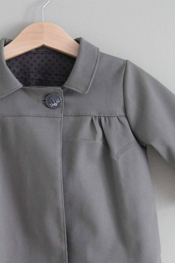 SALE Tea Coat   4T cotton twill stretch ready to ship jacket (last one )