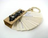 Vintage Key Chain Gold Tone Address Book