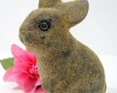 Flocked Bunny Vintage Brown