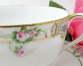 Nippon Tea cup and Saucer Handpainted