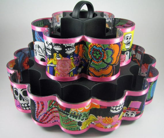 Day of the Dead - Dia de Muertos - Altered Spice Rack Carrousel
