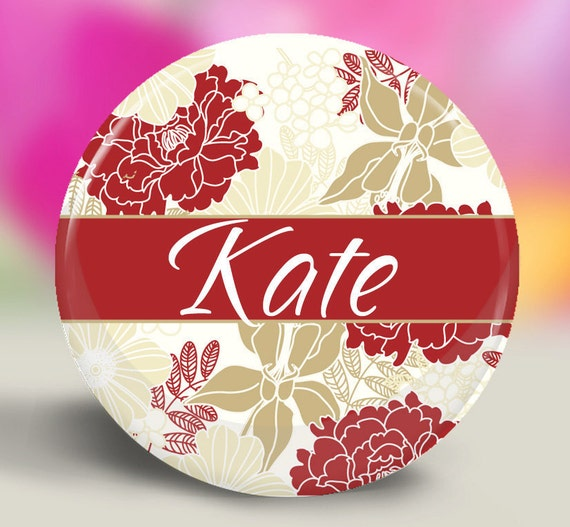 Great Stocking Stuffers - Personalized Pocket Mirror - Lamour in Red