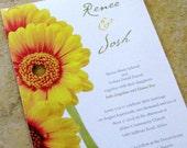 Spring Daisy Wedding Invitation