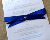 Starry Night Custom Wedding Invitation