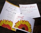 Custom Wedding Invitation - Gerbera Daisy