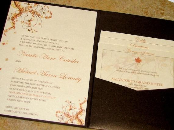 Fall Wedding Invitation Wording: Chocolate Brown Fall Wedding Invitation By Alarish On Etsy
