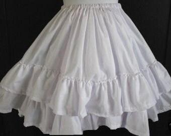 Girls Super Full White Petticoat Slip