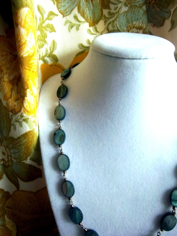 Sea Siren Blue Mother of Pearl Necklace