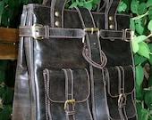 Leather Handbag / Tote / Purse / Messenger Bag / Orea in Dark Brown SALE
