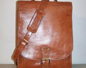 SALE Tan leather bag shoulder bag messenger Elie XXL in tan fits a 17 inches 15 inches laptop