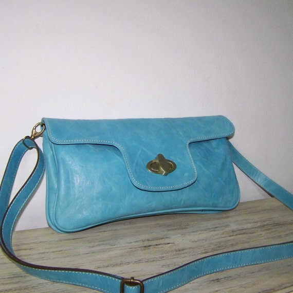 Light blue purse clutch cross body bag Tal