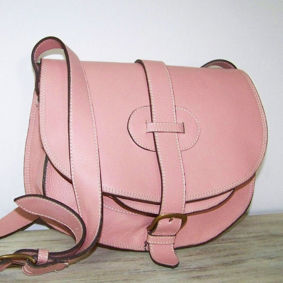 Light Pink Leather Purse - Bag - Messenger - Cross body Goldmann/ SALE