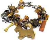 Dog charm bracelet dog jewelry Scottie Westie Terrier dog bracelet  ANIMAL RESCUE DONATION