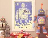 Robot digital print: Humble Giant