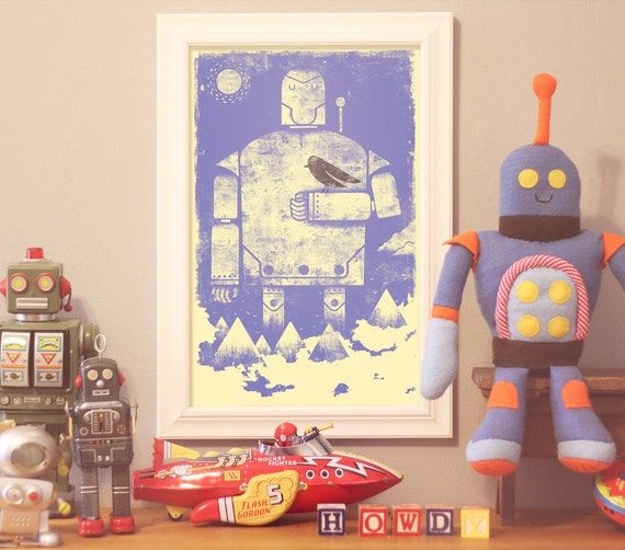 Robot digital print: Humble Giant