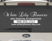 Custom Vinyl Vehicle Decal to Advertise Your Business