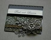 Custom Wedding Album, personalized with your names, platinum grey gray, Photo, memorybook style