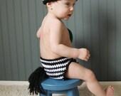Jungle Bunz Zebra Crochet Diaper Cover  Newborn, 0-6, 6-12