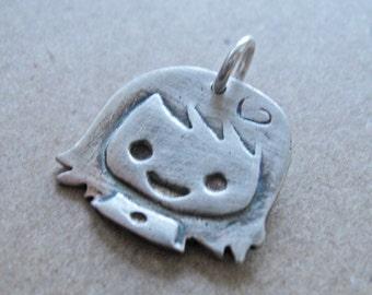 Little girl pendant (no chain)