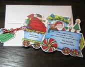 60 - Santa - Christmas - Train - Birthday Party - Invitations - Handcut and Personalized