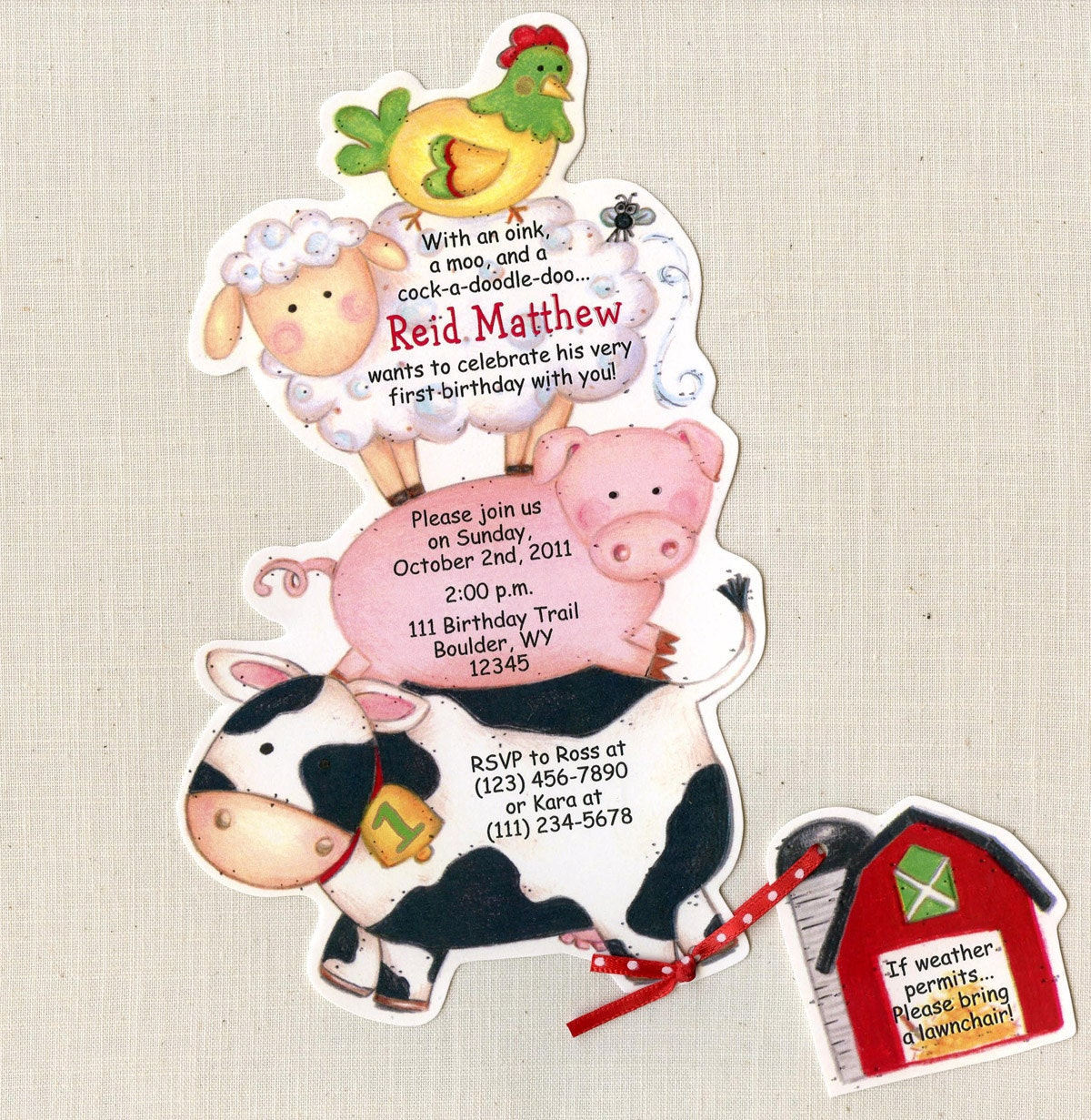 Barnyard Invites for adorable invitation example
