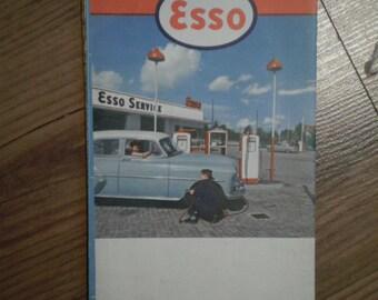 Denmark 1950's ESSO Dansk Map