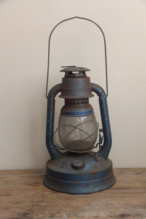 Vintage Blue Dietz No. 100 Lantern