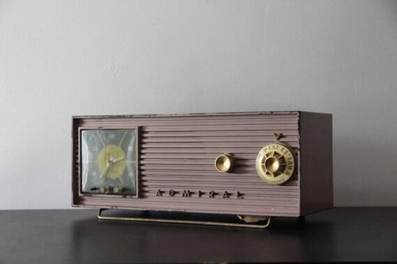 1950s Vintage Pink Radio by Admiral