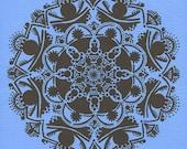 Print of Haint Blue Mandala