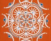 Large Print of Orange Turquoise Mandala